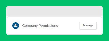 Company Permissions Button