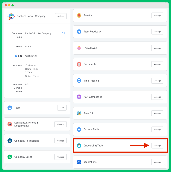 Onboarding-Manage